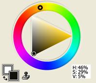 Black from Yellow-Orange